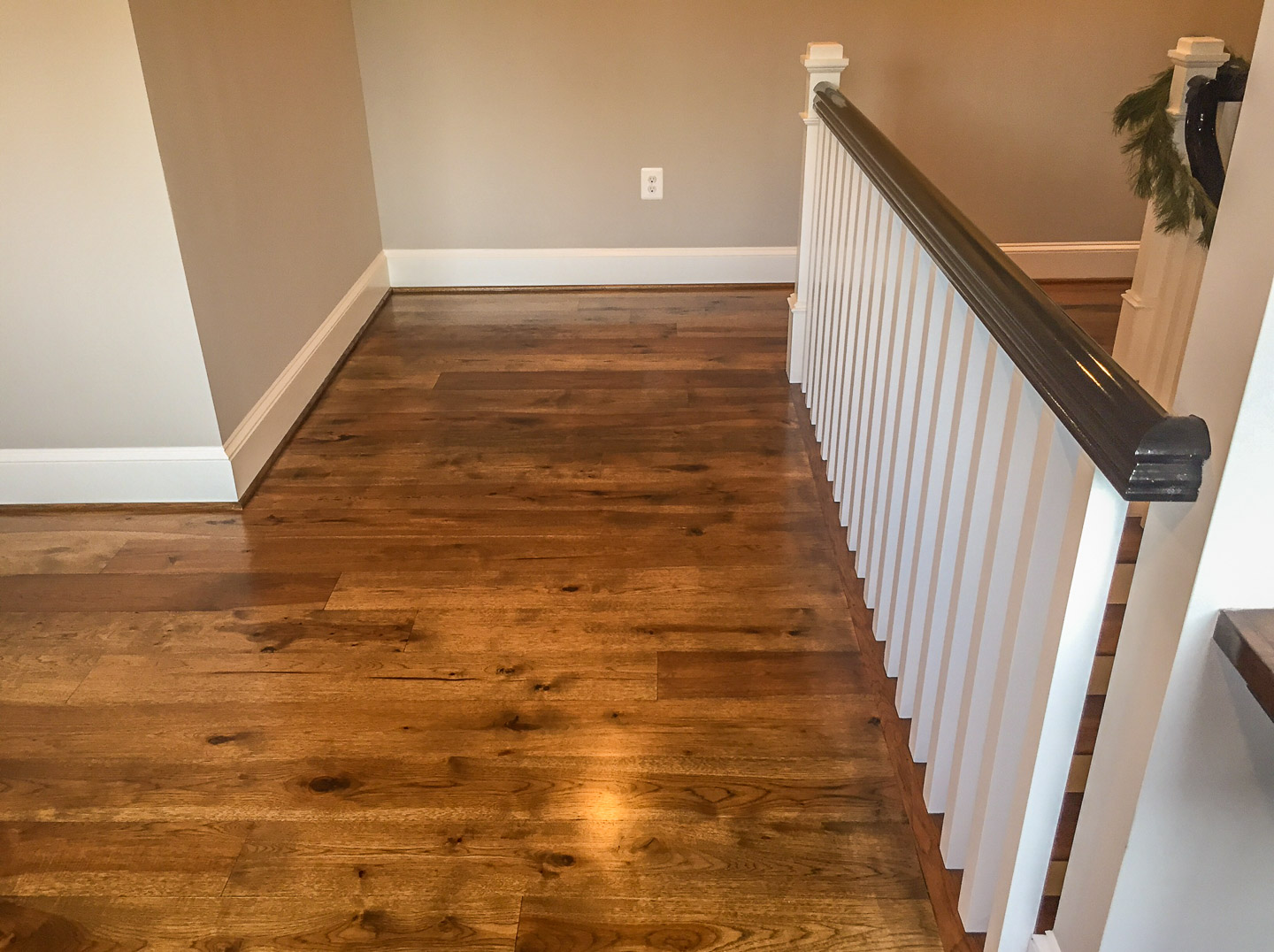 Hickory Wide Planks With Jacobean Stain